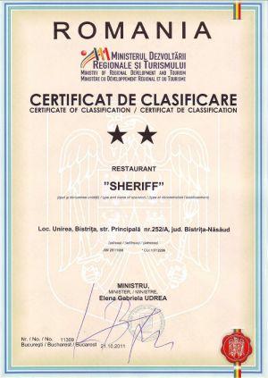 Certificat Clasificare Restaurant (1)