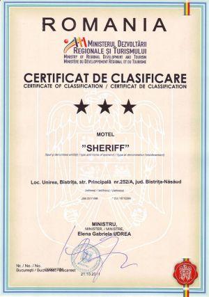 Certificat de Clasificare Motel Sheriff (2)